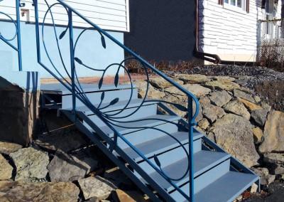 Escalier et rampe en métal