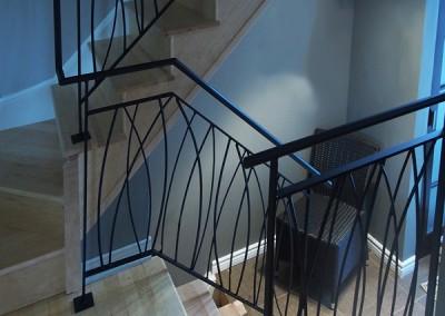 Rampes escalier style roseau